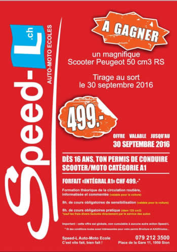 Annonce gagnez un scooter Speed-L